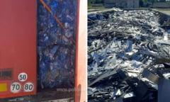 Peste 37 de tone deșeuri din Bulgaria, oprite la vamă în Giurgiu VIDEO