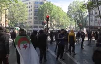 Peste 40 de arestari in urma demonstratiilor pro-palestiniene de la Paris, care s-au incheiat cu confruntari cu fortele de ordine
