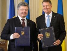 Petro Porosenko, presedintele Ucrainei si Klaus Iohannis, presedintele Romaniei
