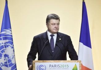 Petro Porosenko avertizeaza asupra riscului unui dezastru ecologic in estul Ucrainei
