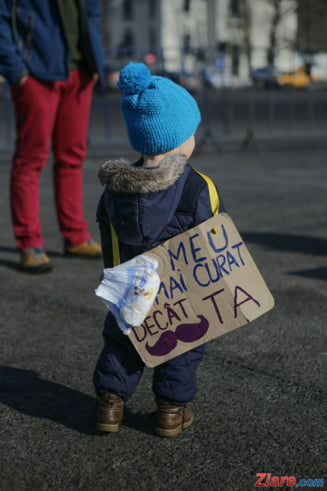 Plangeri anonime la Protectia Copilului cu privire la copiii care au participat la proteste - UPDATE