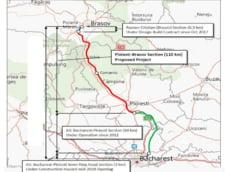 Plansa cu segmentul de Autostrada Ploiesti - Brasov din studiul de fundamentare al Comisie de Prognoza