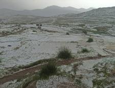 Platoul Bucegi a fost acoperit de gheata in plina vara. Imagini uluitoare filmate pe 29 iulie VIDEO