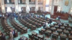 Plenul Senatului a fost suspendat din lipsa de cvorum, dar ordonantele au fost repartizate comisiilor. Sedinta a durat doar 10 minute