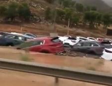 Ploile torentiale au provocat inundatii grave in Spania: 2 persoane au murit, haos pe sosele si in scoli (Video)
