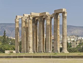 Ploile torentiale au scos la lumina o figurina reprezentand un taur in apropiere de Templul lui Zeus din Grecia