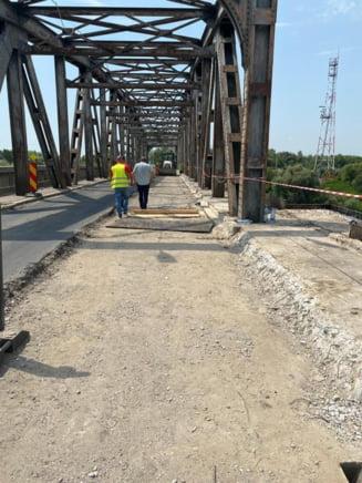 Pod în totalitate nou construit la Ungheni ca parte a celebrei autostrăzi A8. Marile proiecte de infrastructura peste Prut