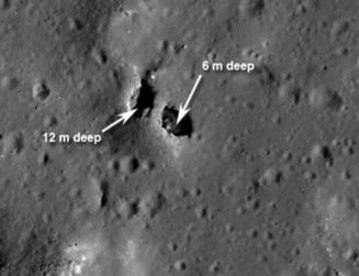 Pod natural descoperit pe Luna