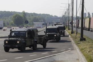 Polițiștii germani au descoperit un transportor blindat al Armatei Române care ar fi avut scurgeri de ulei. Explicațiile MApN