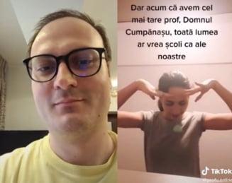 """Politia Capitalei si Parchetul verifica discutiile lui Alexandru Cumpanasu cu minori, pe TikTok. """"Esti o fata dezvoltata"""", una dintre remarcile """"Profului online"""""""