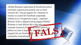 Politia Romana neaga ca a raportat internautii care au criticat institutia pe pagina de Facebook