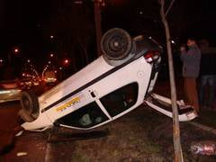 Politist cu BMW izbit de un Citroen cu 3 tineri, la Timisoara