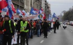 Politistii BLOCHEAZA centrul Bucurestiului: Miting de AMPLOARE chiar de Ziua Politiei Romane - VIDEO