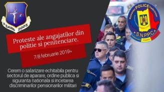 Politistii si angajatii din penitenciare ies in strada cand la Bucuresti vin ministrii de Interne si Justitie din UE