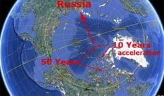 ...каковы же реальные цифры и факты смещения северного полюса Земли.