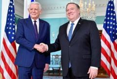 Pompeo s-a intalnit cu Melescanu la Washington. Au vorbit despre coruptia din Romania si agresiunea Rusiei