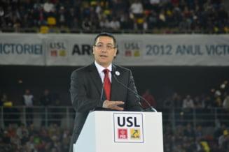 Ponta: Crin Antonescu ramane candidatul USL la prezidentiale