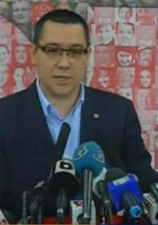 Ponta: Daca Puterea nu accepta sesiunea extraordinara, USL ia in calcul orice forma de protest