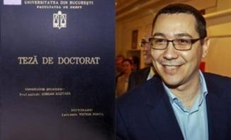 Ponta: Merit titlul de doctor in drept, nu-mi este rusine de teza mea de doctorat
