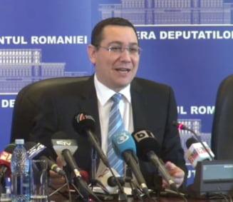 Ponta: Nu am semnat scrisoarea cu FMI. Vor cresterea pretului la gaze si restructurari