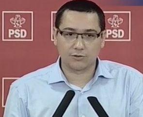 Ponta: Romanii vor avea de ales doar intre Basescu si cei 7 pitici si USL