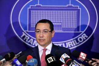 Ponta: Sper sa avem de maine un ministru al Transporturilor. Pretextul amanarii nu mai exista
