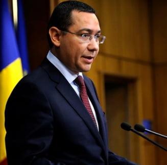 Ponta: Sper sa nu fie nevoie de un mare conflict pentru a redescoperi unificarea interna a Romaniei