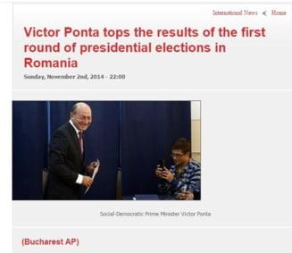 Ponta, confundat cu Basescu in presa externa