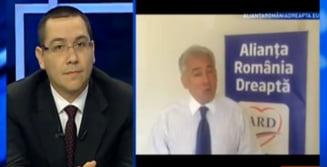 Ponta, despre Videanu: Are prostul obicei de a iesi ca paduchele in frunte