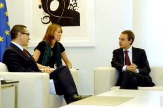 Ponta, despre intalnirea cu Zapatero: Ce marinar avem noi si ce cizmar extraordinar au avut ei!