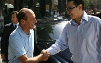 Ponta, despre o eventuala intalnire cu Basescu la Bruxelles: Nu merg in carciumi cu el