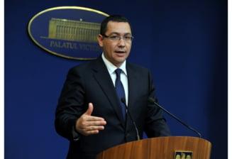 Ponta, despre proteste: Oamenii politici slabi de inger se pierd cand vad o multime