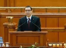Ponta, in Parlament - sfaturi, laude si atentionari pentru Ungureanu, critica presei