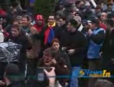 Ponta, in coloana de sindicalisti