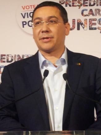Ponta, ironii pe tema confruntarii cu Iohannis