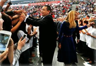 Ponta, lansare de star rock la prezidentiale - Cat a costat inchirierea Arenei Nationale