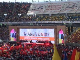 Ponta, lansare faraonica la prezidentiale - discurs despre Unire, originile sale si razboiul cu Basescu
