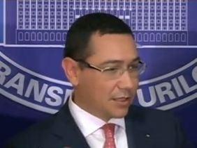 Ponta a preluat interimatul la Transporturi, dar a iesit singur la declaratii