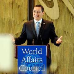 Ponta cere sa fie continuata cu intelepciune si profesionalism directia economica data de el
