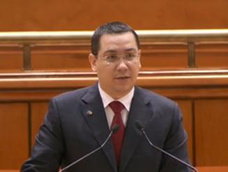 Ponta prezinta bugetul pe 2015 in Parlament: Un moment al adevarului este...