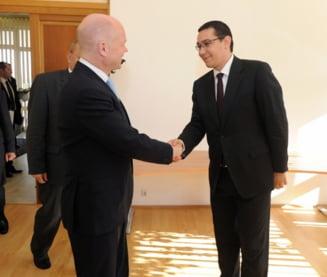 Ponta se intalneste cu ministrul britanic de Externe - UPDATE