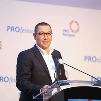 Ponta spune ca nu se intoarce in PSD, dar va lua in Pro Romania oamenii buni din PSD