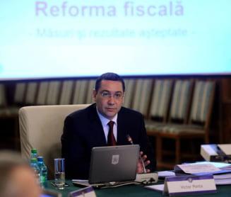 Ponta urmareste la TV, din biroul lui Zgonea, daca senatorii PNL voteaza Codul Fiscal