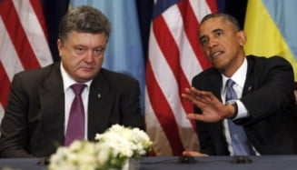 """Porosenko cere ajutor SUA pentru """"razboiul pentru lumea libera"""": Nu-l putem castiga cu paturi"""