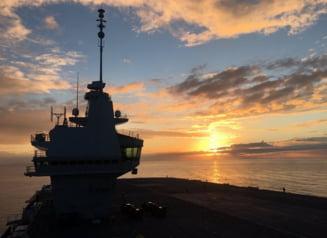 Portavionul HMS Queen Elizabeth, mandria Marii Britanii, a fost facut de ras de o mica drona