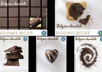 Posta din Belgia a emis timbre cu aroma de ciocolata