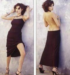 Poze nemaivazute cu Angelina Jolie, la 19 ani - E topless si fumeaza (Galerie foto)