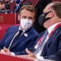 Preşedintele Franţei, Emmanuel Macron, în lojă cu Marius Vizer în prima zi de competiţie la JO 2020