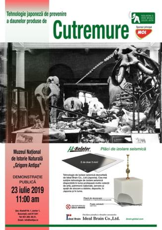 Premiera europeana la Muzeul Antipa: tehnologia japoneza anticutremur
