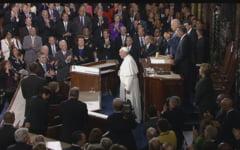 Premiera istorica: Un papa in Congresul SUA - ura, lacomie, saracie si poluare (Video)